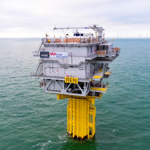 Topside of the offshore substation successfully installed at Rentel Offshore Windfarm